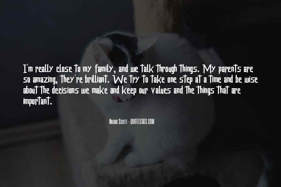 Quotes About Values And Family #1057127