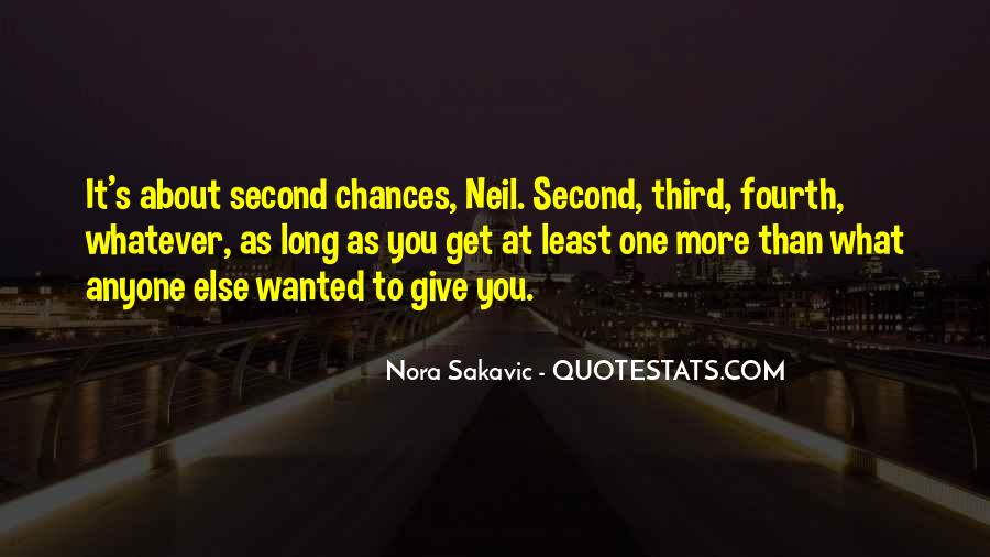 Quotes About Third Chances #402240