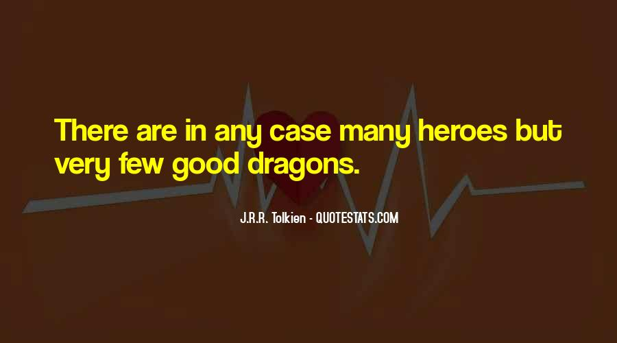 Quotes About Tolkien Dragons #1714126