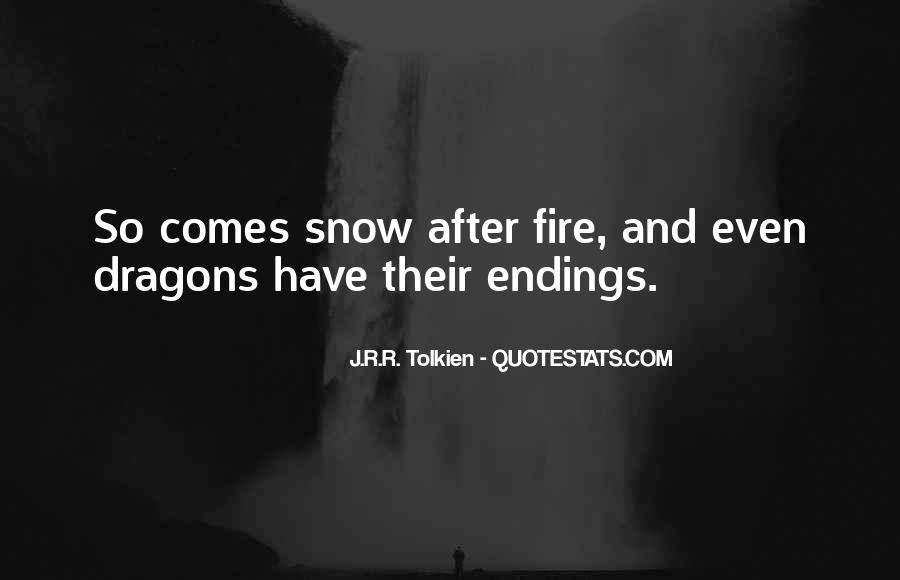 Quotes About Tolkien Dragons #1852413