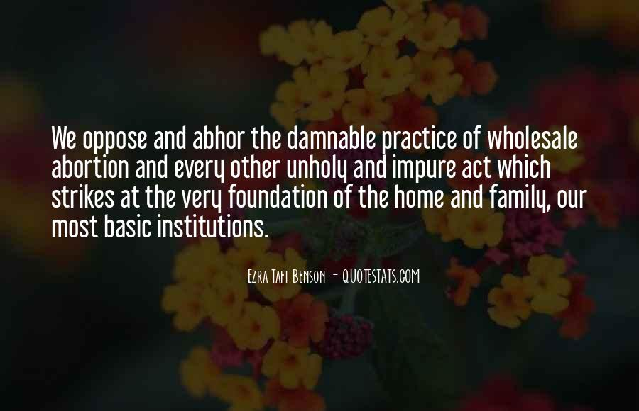 Quotes About Foundation Of Family #1410224