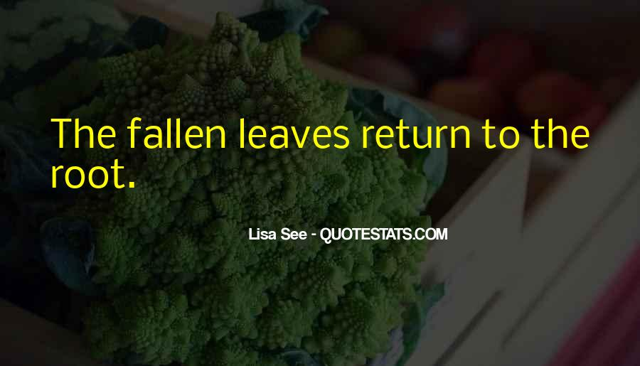 Quotes About Fallen Leaves #142602