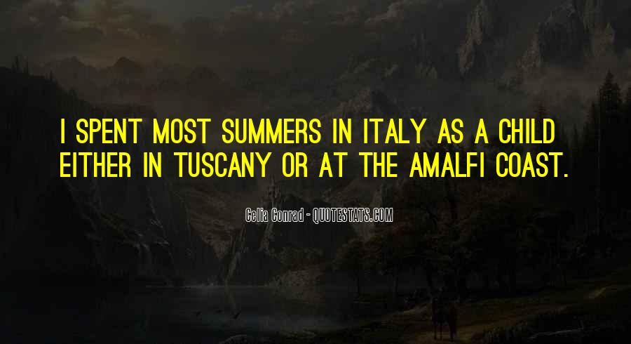 Quotes About Tuscany Italy #1048029