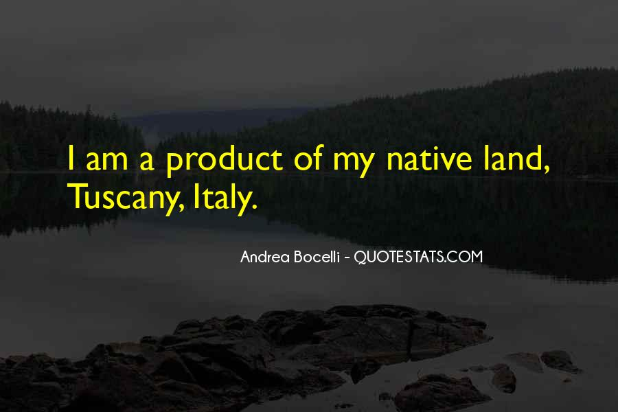 Quotes About Tuscany Italy #1664913