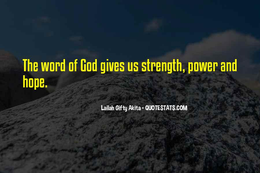 Quotes About Faith And Hope And Strength #1794073