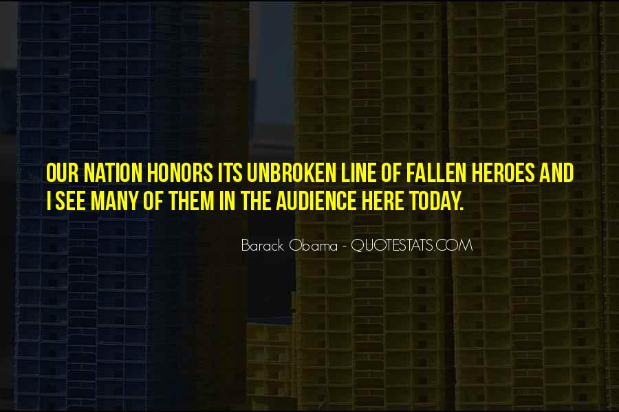 Quotes About A Fallen Hero #1762262