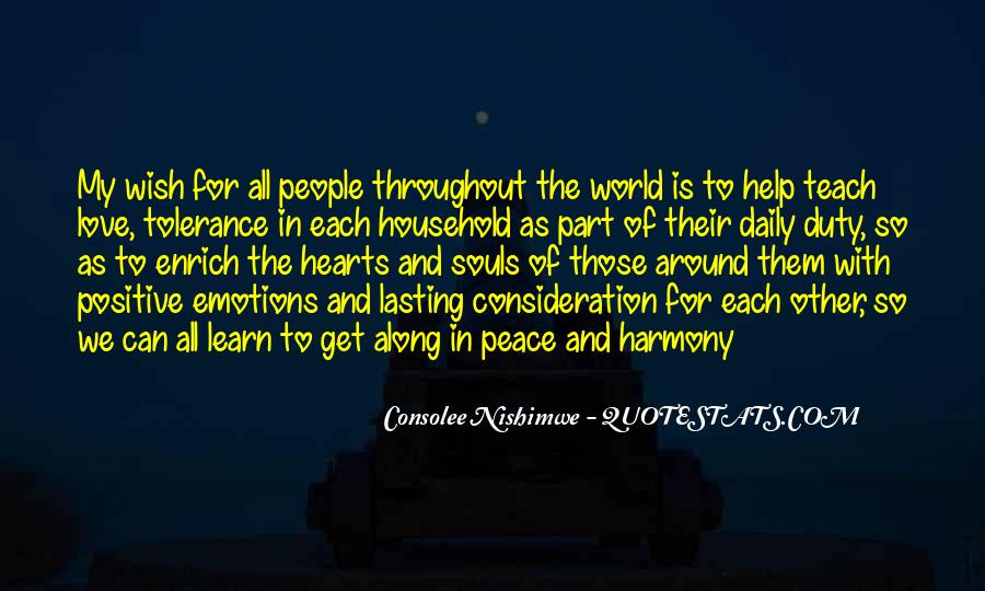 Quotes About Love And Peace In The World #574026