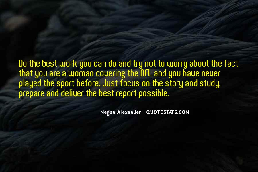 Quotes About Focus In Sports #1263840