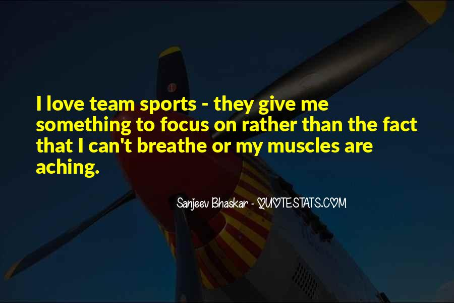 Quotes About Focus In Sports #911022