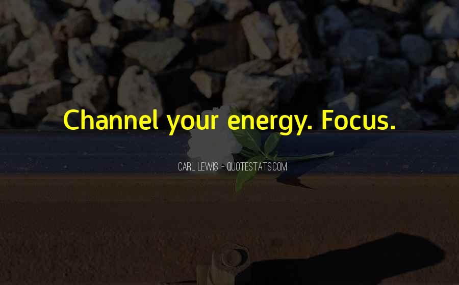 Quotes About Focus In Sports #952014