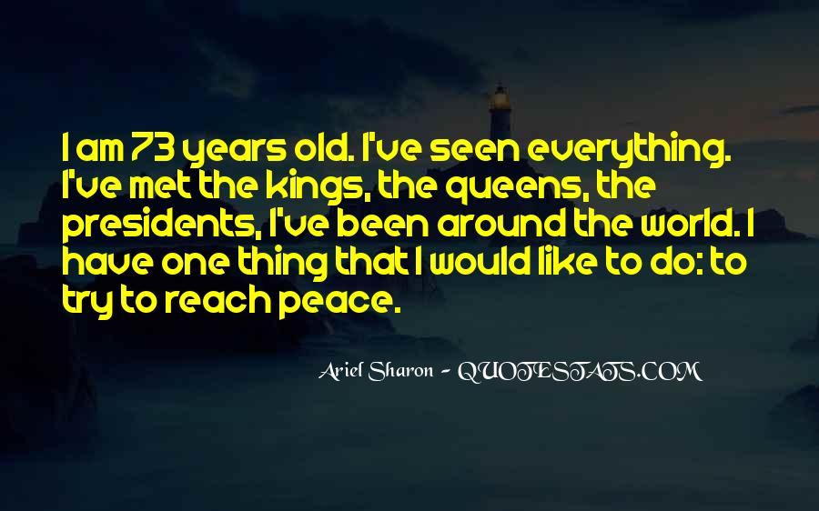 Quotes About Peace Around The World #309374