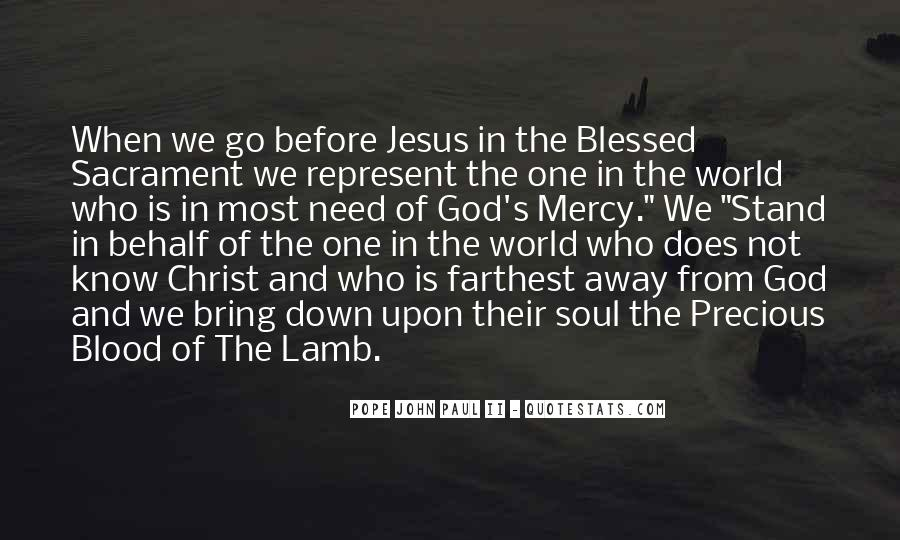 Quotes About The Blood Of The Lamb #1301055