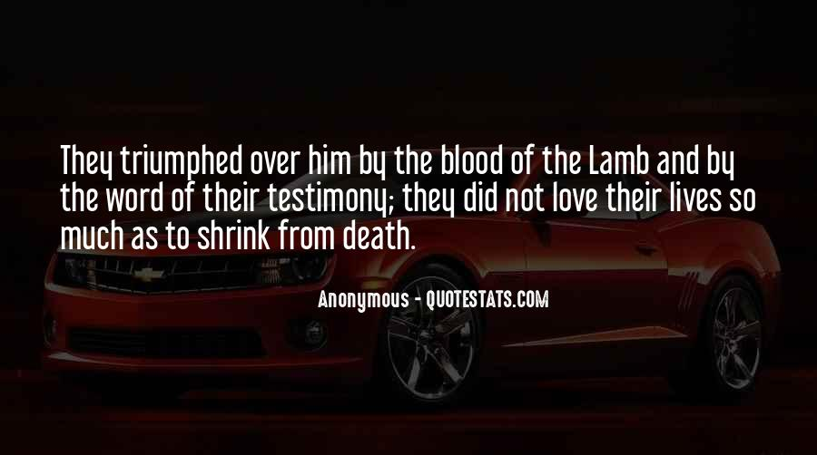 Quotes About The Blood Of The Lamb #1795979