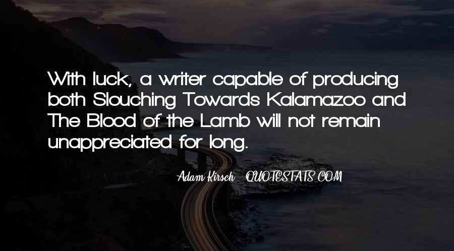 Quotes About The Blood Of The Lamb #253381