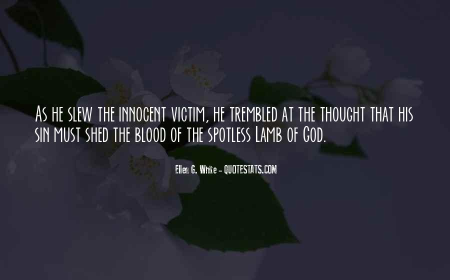 Quotes About The Blood Of The Lamb #376819
