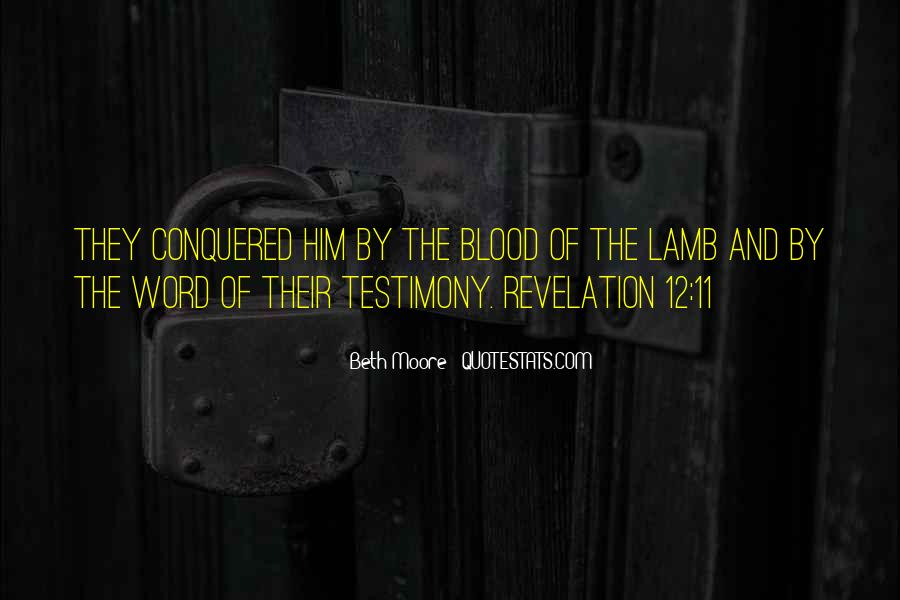 Quotes About The Blood Of The Lamb #591766