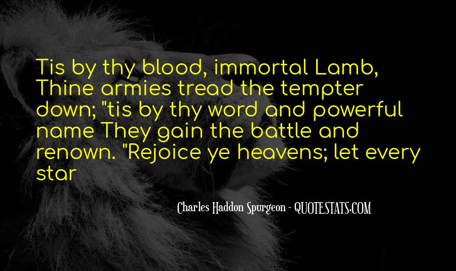 Quotes About The Blood Of The Lamb #89800