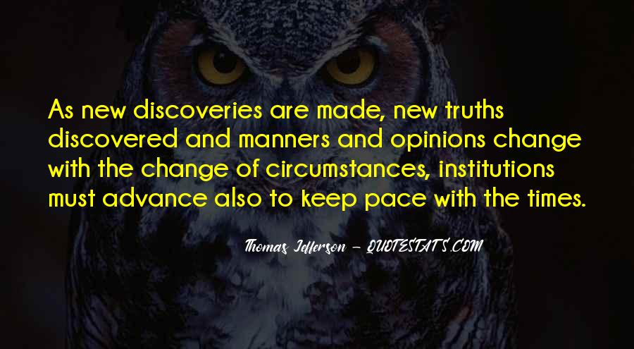 Quotes About Pace Of Change #1378243