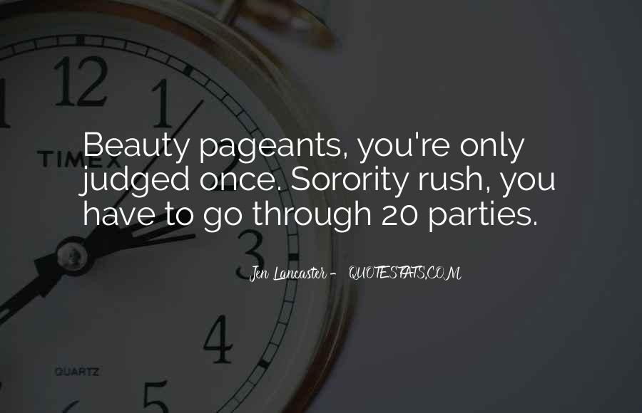 Quotes About Pageants #487434