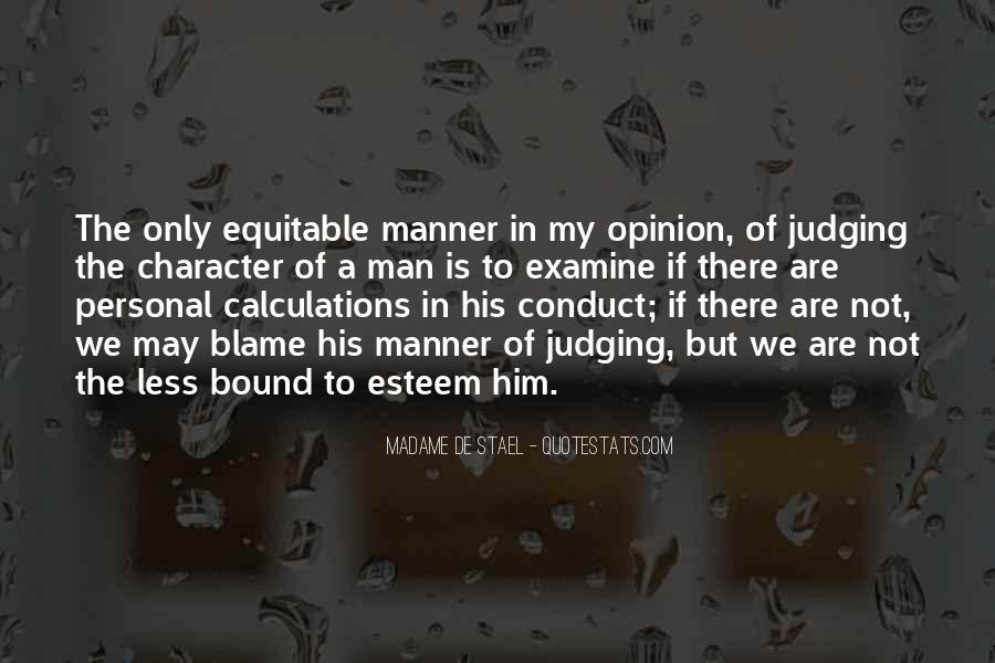 Quotes About Judging Character #1108070