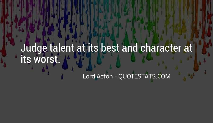 Quotes About Judging Character #1353704