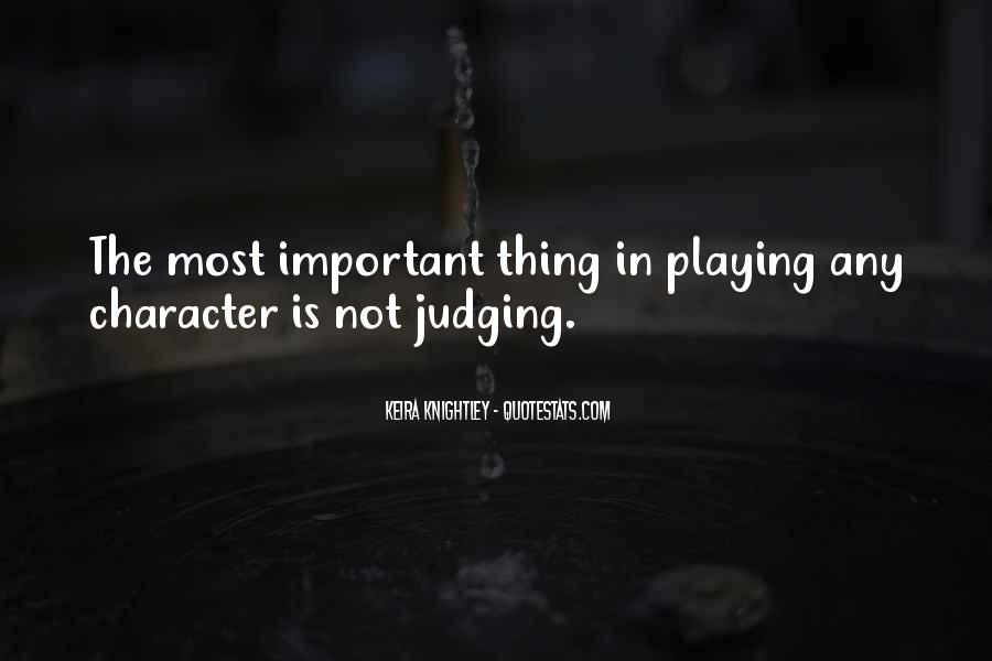 Quotes About Judging Character #339192