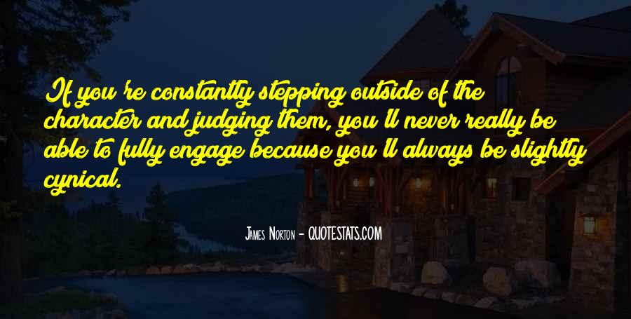 Quotes About Judging Character #980949