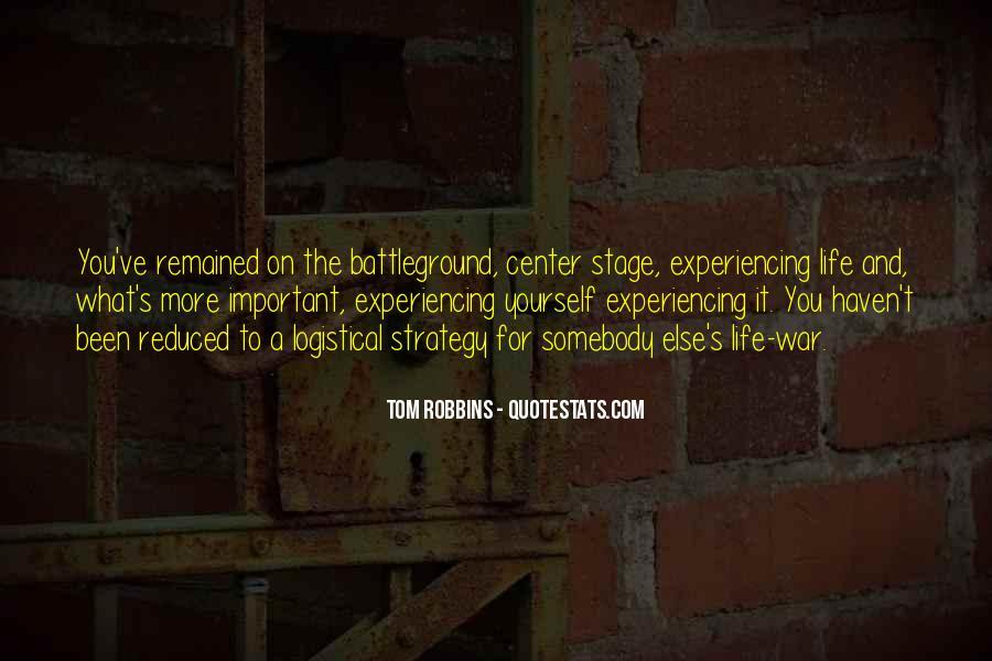 Quotes About Battleground #477335