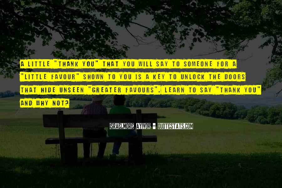 Quotes About Say Thank You #319948