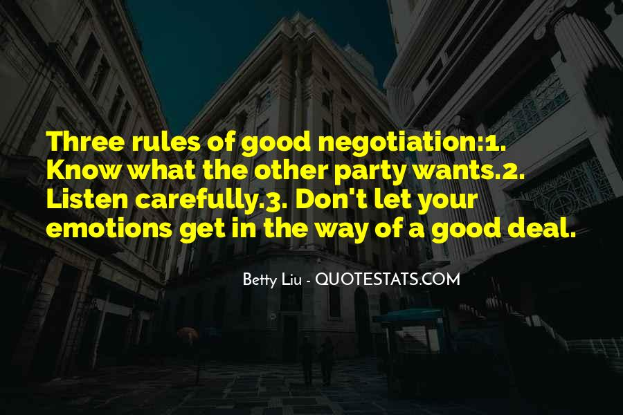 Quotes About Good Negotiations #749401