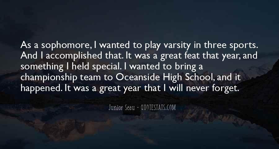 Quotes About Junior Varsity #153316