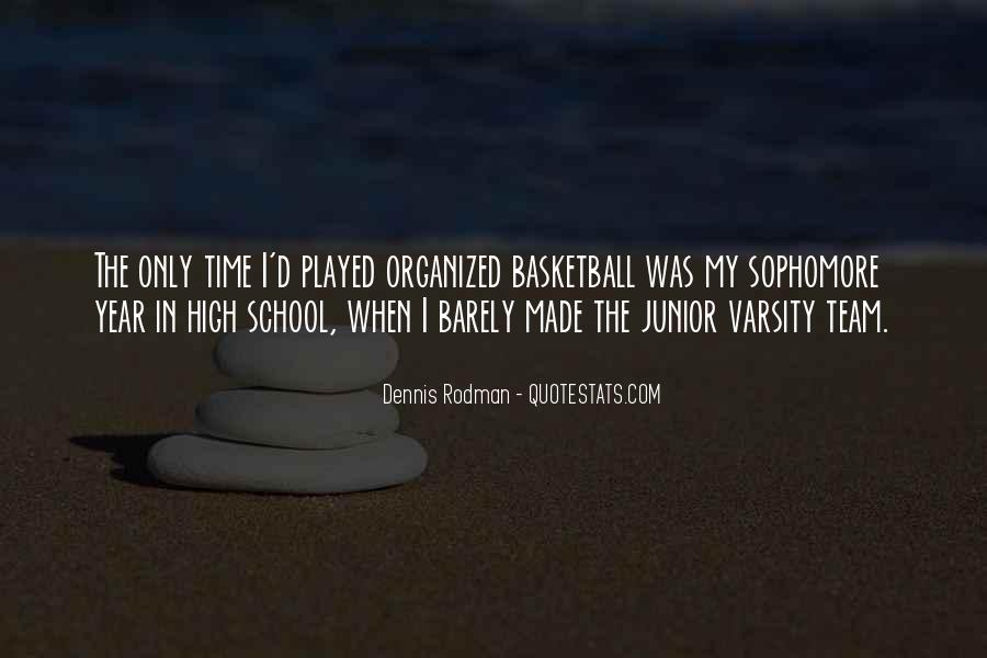 Quotes About Junior Varsity #20742