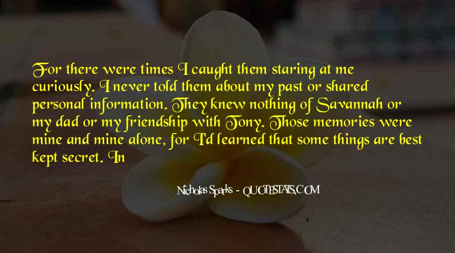 Quotes About Shared Memories #1664725
