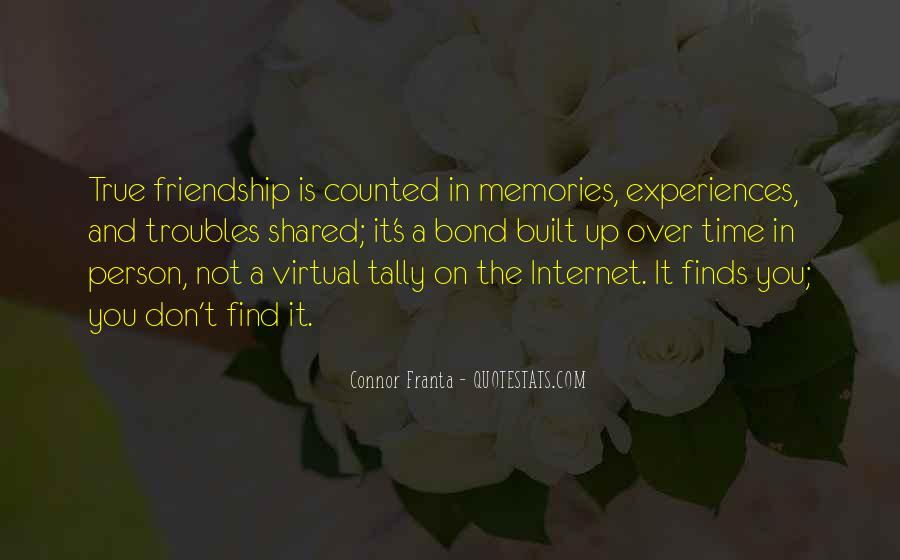 Quotes About Shared Memories #567041