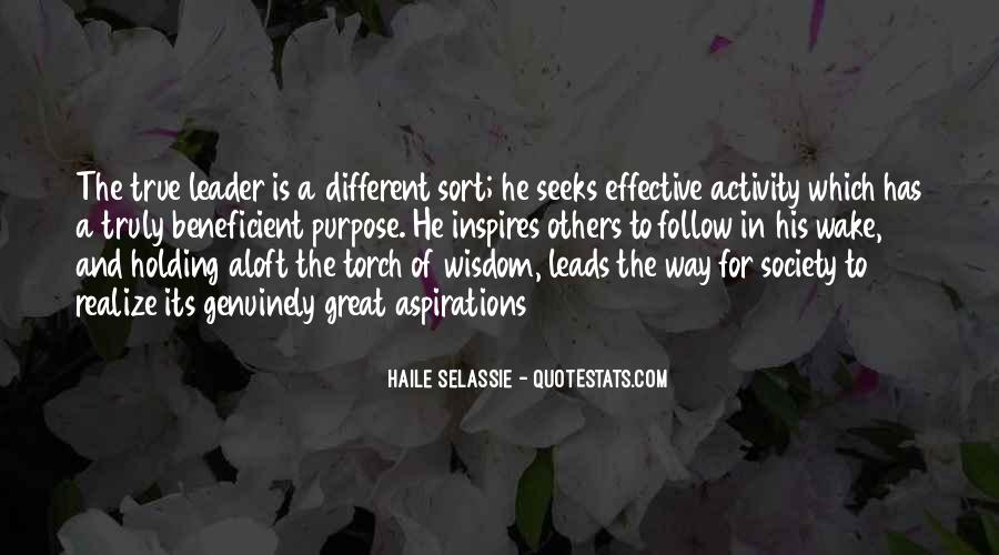 Quotes About Leader Who Inspires #950697