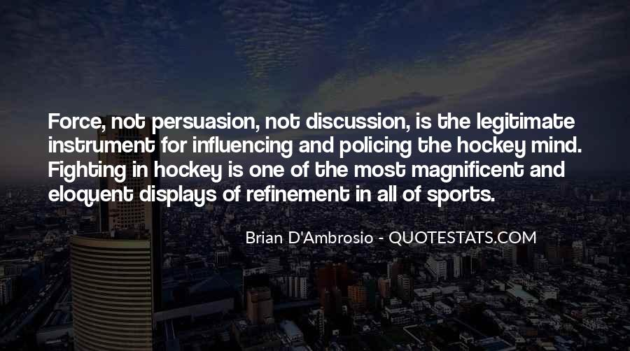 Quotes About Hockey Fighting #237759