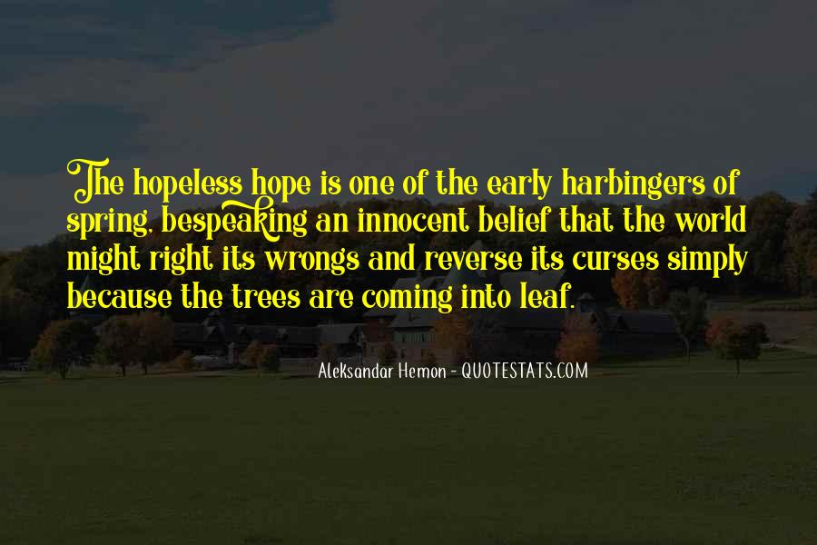 Quotes About Trees And Hope #1462507