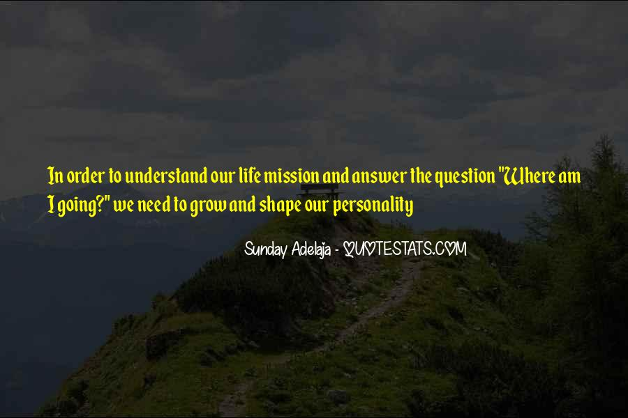 Quotes About Mission #38915