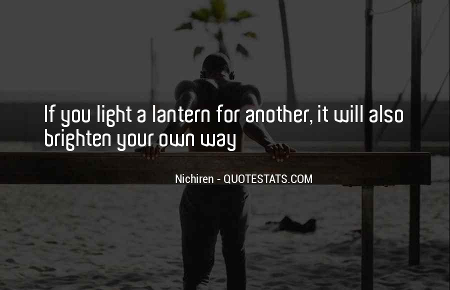 Quotes About Lanterns And Light #485982