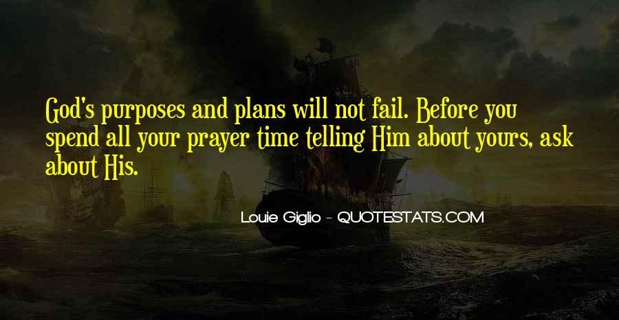 Quotes About Plans And God #1081838