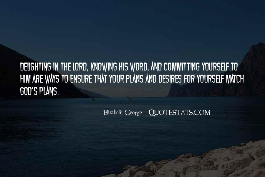 Quotes About Plans And God #153333