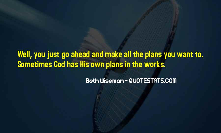 Quotes About Plans And God #259268