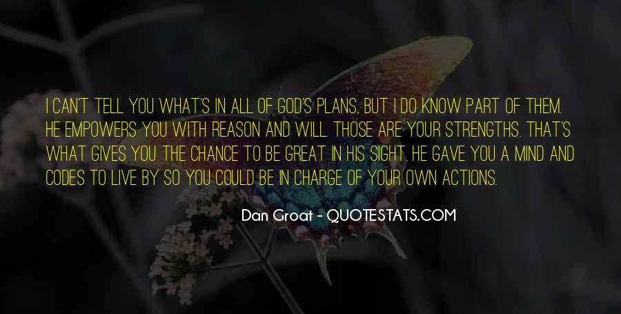 Quotes About Plans And God #5292