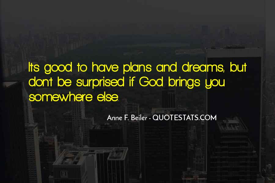 Quotes About Plans And God #703070