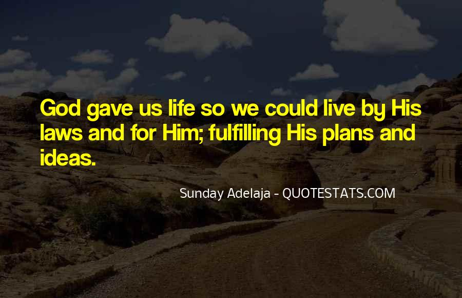 Quotes About Plans And God #809336
