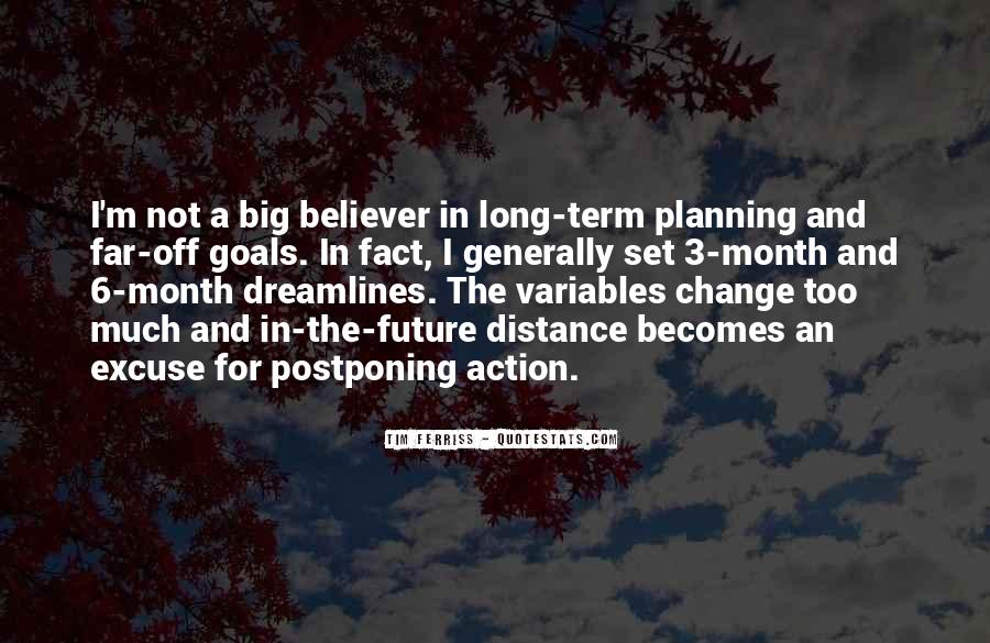 Quotes About Planning And Goals #9813