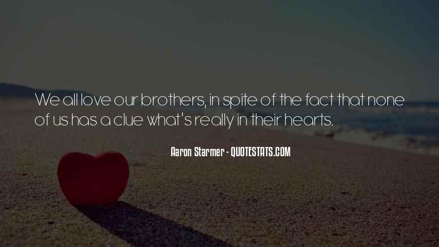 Top 100 Quotes About Brothers Love: Famous Quotes & Sayings ...