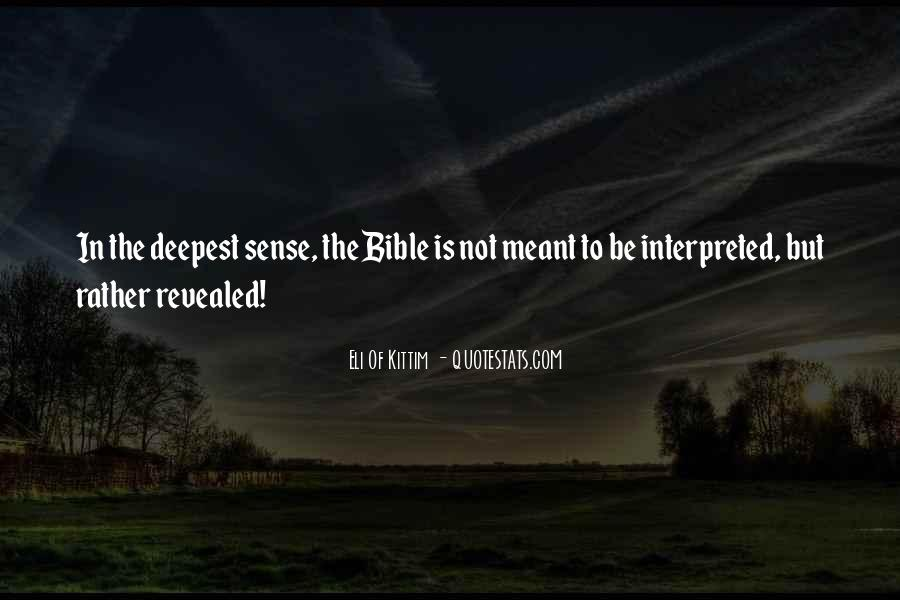 Quotes About Interpretation Of The Bible #746214
