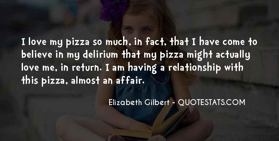 Quotes About Pizza And Love #275378