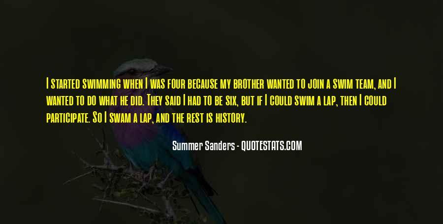 Quotes About Swim Team #325124